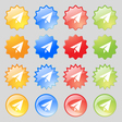 Paper airplane icon sign Big set of 16 colorful vector image
