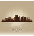 Richmond Virginia skyline city silhouette vector image