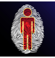 thumbprint identity vector image