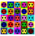 Warhol footballs vector image