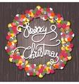 Holly Jolly christmas wreath vector image