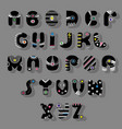 black font superhero style vector image