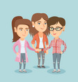 group of caucasian business women joining hands vector image