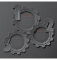 Modern infographics design with cogwheels vector image