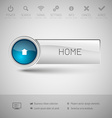 Modern Glossy Button vector image