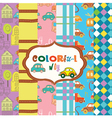 colorful children pattern vector image