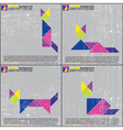 Set of tangram cats vector image vector image