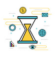 business time creative idea innovation concept vector image