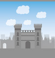 catalonia castle monument famous historic vector image