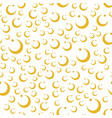 colored yellow circle seamless pattern shape art vector image