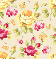 Floral seamless pattern with yellow roses vector image