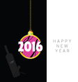 happy new 2016 year in colorful vector image
