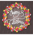 Holly Jolly christmas wreath vector image
