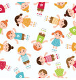 kids seamless pattern vector image