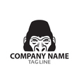 Monochrome Gorilla Logo vector image