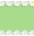 Nature background with 3d chamomiles vector image