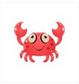 Pink Crab Icon vector image