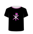 T Shirt Template- Monogram of Christ vector image