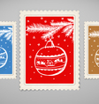Vintage post stamp vector image