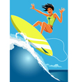 Surfer Girl vector image