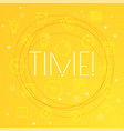 time concept different thin line icons included vector image vector image