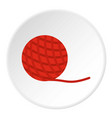 yarn ball toy for cat icon circle vector image