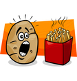 Potato with french fries cartoon vector image