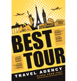 travel agency vector image vector image