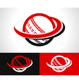 Swoosh Cricket Ball Icon vector image vector image