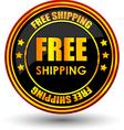 free shipping tag vector image
