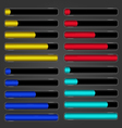 Set of bar downloader-2 vector image