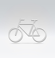 Silver bike icon over white vector