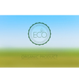 Blur abstract eco colored horizontal background vector image