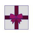 christmas gift present box wrapped ribbon bow vector image