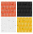 creative of color brick vector image