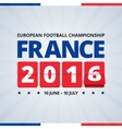 France 2016 euro footbal cup poster vector image