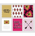 Grunge cards collection vector image