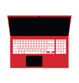 laptop red technology vector image