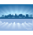 Madison Wisconsin skyline city silhouette vector image