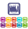 paint can icons set vector image
