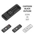 remote control icon in cartoon style isolated on vector image