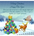 Residence of Santa in Christmas time vector image