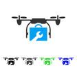Service drone flat icon vector image