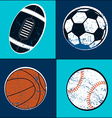 Sports balls children seamless pattern vector image