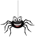 Happy spider vector image