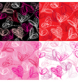 Seamless pattern with hand drawn scribble hearts vector image vector image