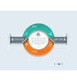 Modern Infographics template Circle design vector image