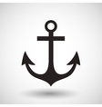 Anchor symbol on gray background vector image