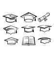 graduating hat vector image