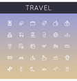 Travel Line Icons vector image